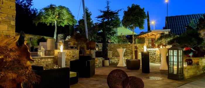Terrasse ganz romantisch